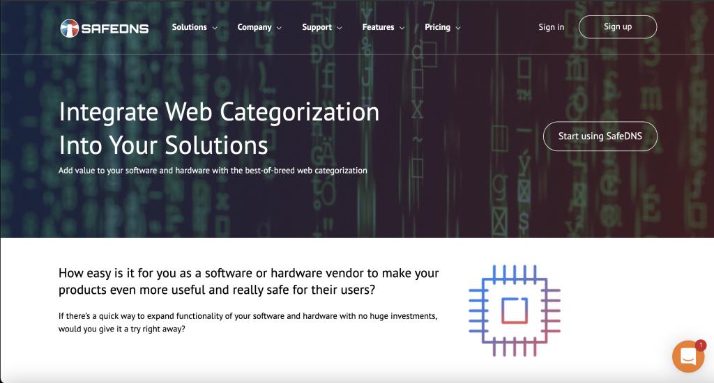 SafeDNS Homepage