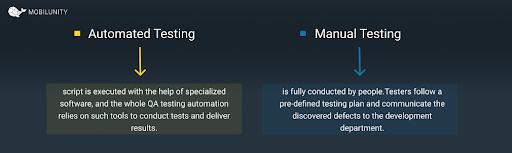 automated QA testing vs manual QA testing